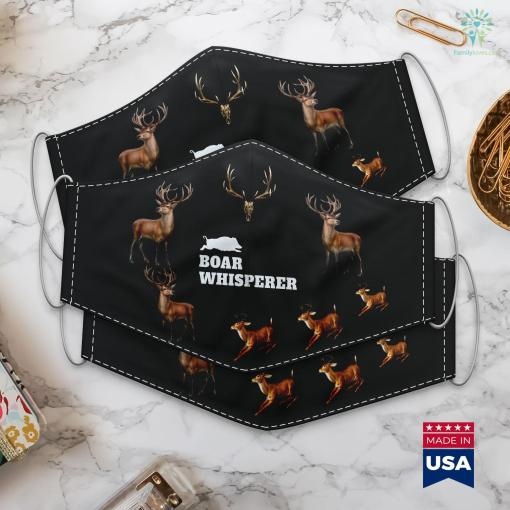 Wyoming Antelope Hunting Boar Whisperer Hunting Season Wild Pigs Hog Hunters Cloth Face Mask Gift %tag familyloves.com