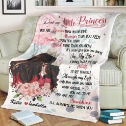 Mom Dear My Little Princess You Are Braver Than You Believe Sherpa Fleece Blanket %tag familyloves.com