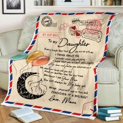 To My Daugher Every Single Day That You Are Not With Me Love Mom Sherpa Fleece Blanket %tag familyloves.com