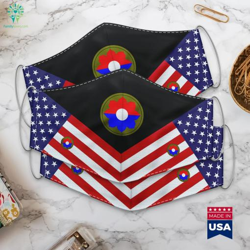 9Th Infantry Division United States Historical Army Colonel Insignia Cloth Face Mask Gift %tag familyloves.com