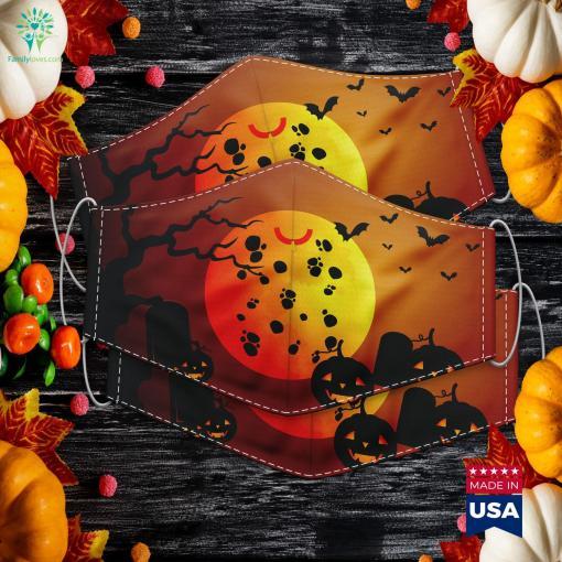 Dog Dalmation Costume Halloween Halloween Tattoos Cloth Face Mask Gift %tag familyloves.com