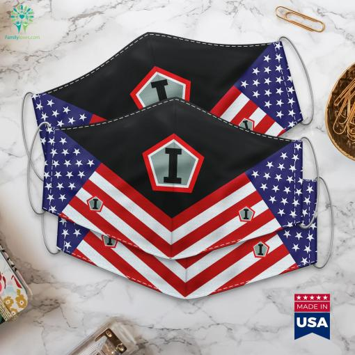 First United States Army Group Historical Italian Military Ranks Cloth Face Mask Gift %tag familyloves.com