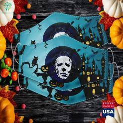 Halloween Meditating Skeleton Funny Freaky Yoga Gift Kid Costumes Cloth Face Mask Gift %tag familyloves.com
