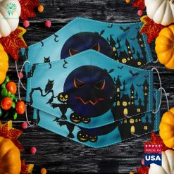 Halloween Pumpkin Jack O Lantern Evil Face Party Costume Theatrical Costumes Cloth Face Mask Gift %tag familyloves.com