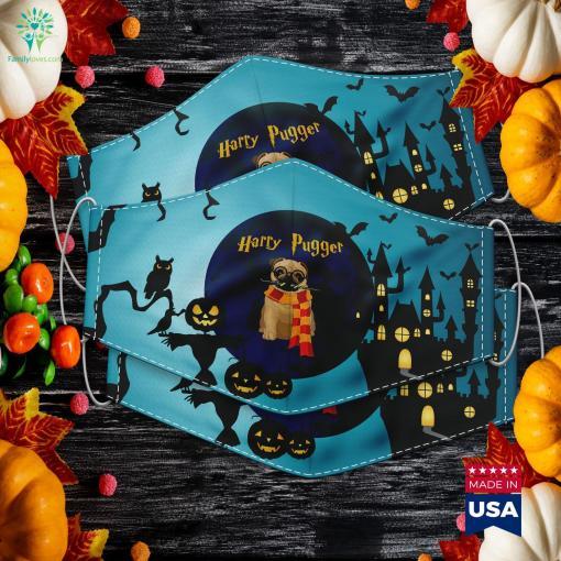 Harry Pugger Funny Pug Halloween Halloween Zodiac Cloth Face Mask Gift %tag familyloves.com