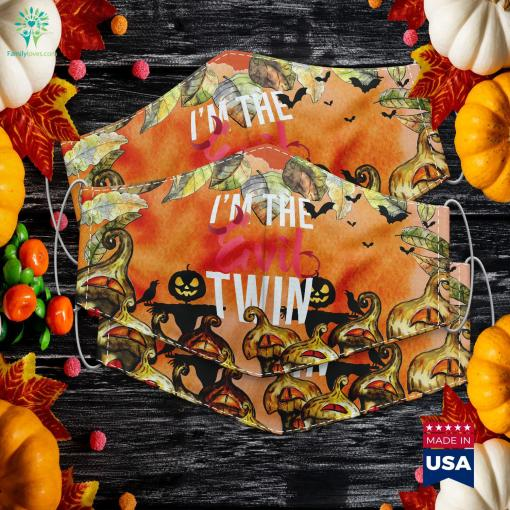 Im The Evil Twin Funny Halloween Horror Halloween Costumes Made Of Cardboard Cloth Face Mask Gift %tag familyloves.com