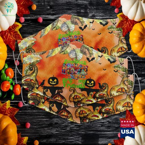 Original Zombies Are My Friends Halloween Halloween Behind The Scenes 1978 Cloth Face Mask Gift %tag familyloves.com
