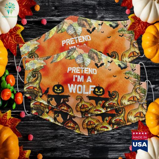 Pretend Im A Wolf Halloween Costumes Halloween Before Christmas Cloth Face Mask Gift %tag familyloves.com