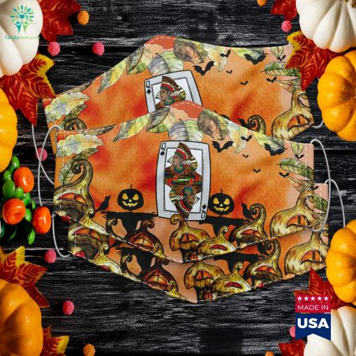 Queen Spades African American Card Halloween Gift Hours Until Halloween Cloth Face Mask Gift %tag familyloves.com