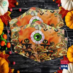 Spooky Scary Eyeball Halloween Eyeball Cheap Funny Halloween Costumes Cloth Face Mask Gift %tag familyloves.com