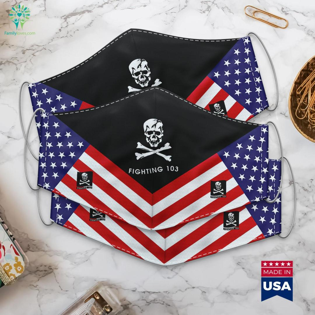 Strike Fighter Squadron 103 The Jolly Rogers Us Navy Turkish Military Ranks Cloth Face Mask Gift %tag familyloves.com