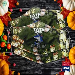 Tata Shark Doo Doo Doo Halloween Pirate Shark Warehouse Halloween Costumes Cloth Face Mask Gift %tag familyloves.com