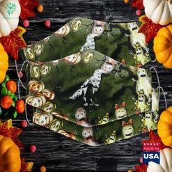 The Spooky Crow Birds Horror Halloween Halloween Party Supplies Cloth Face Mask Gift %tag familyloves.com