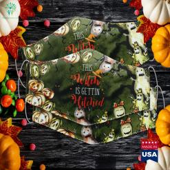 This Witch Is Getting Hitched Halloween Wedding Super Cute Halloween Costumes Cloth Face Mask Gift %tag familyloves.com