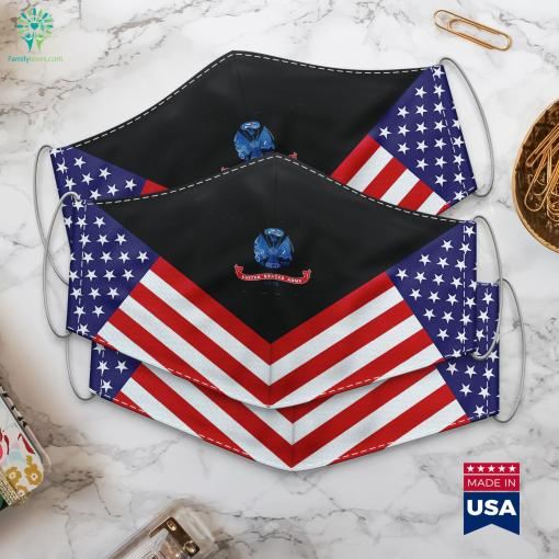 Us Army Army Flag Special Forces Ranks Cloth Face Mask Gift %tag familyloves.com