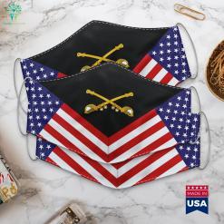 Us Army Cavalry Emblem Major Insignia Cloth Face Mask Gift %tag familyloves.com
