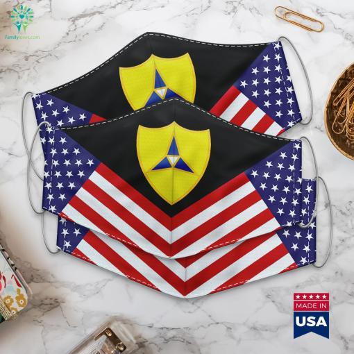 Us Army Iii Corps Dui Dod Logo Cloth Face Mask Gift %tag familyloves.com