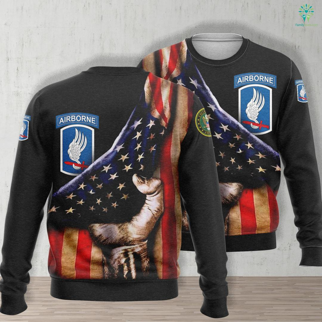 Us Army Jacket 173Rd Airborne Brigade Combat Team Ssi Unisex Long Sleeve Sweatshirt All Over Print %tag familyloves.com