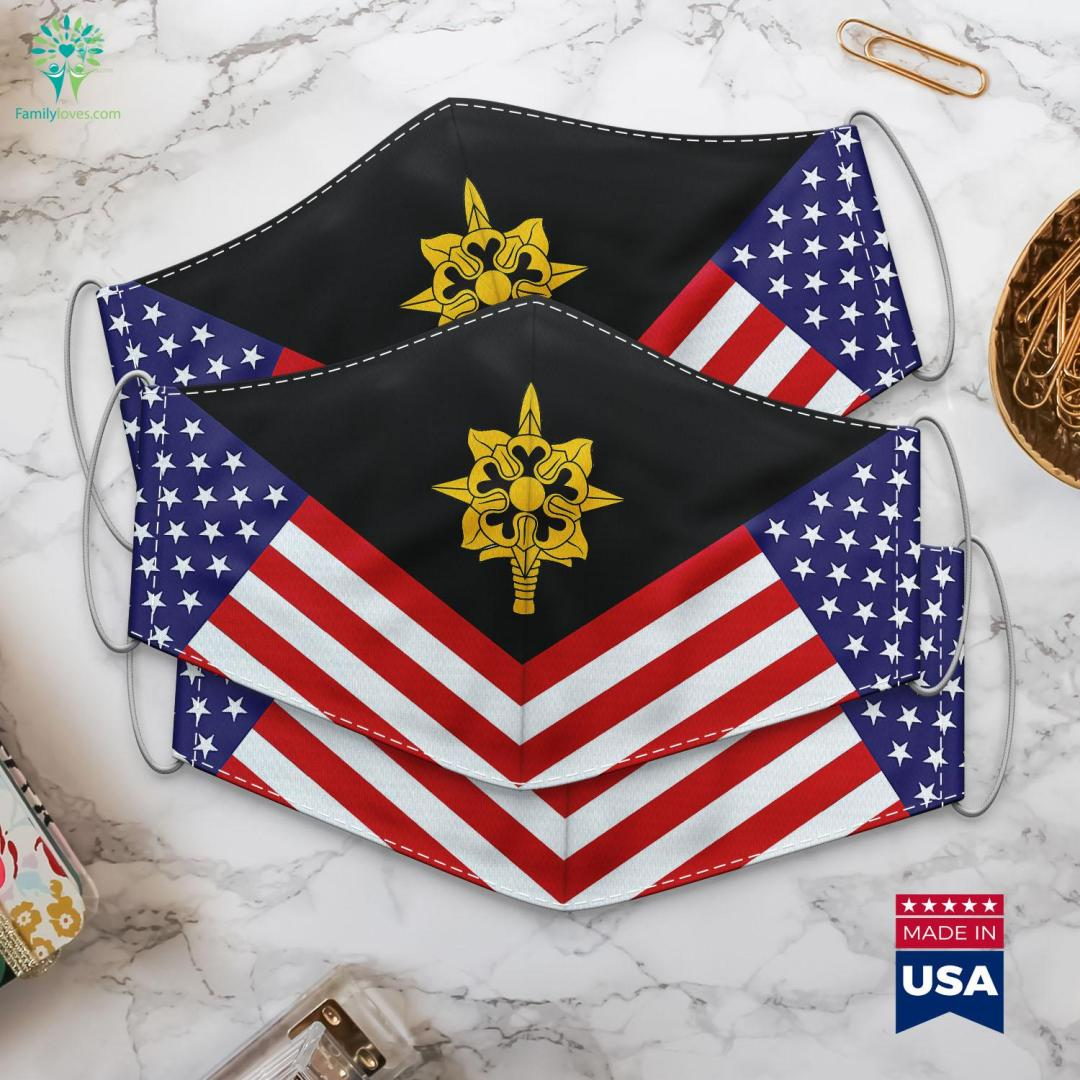 Us Army Military Intelligence Emblem Us Army Officer Ranks Cloth Face Mask Gift %tag familyloves.com