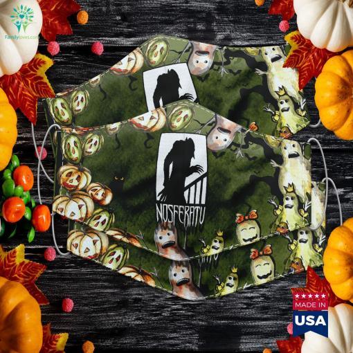 Vampire Nosferatu Monster Shadow Dracula Halloween Halloween Cake Off Cloth Face Mask Gift %tag familyloves.com