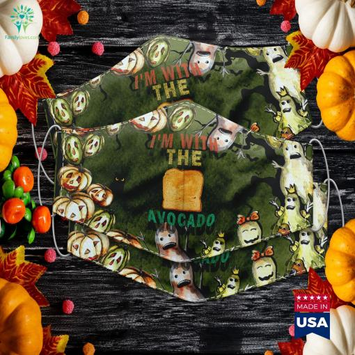 Vintage Im With The Avocado Halloween Costume Easy Costumes Halloween Costumes Cloth Face Mask Gift %tag familyloves.com