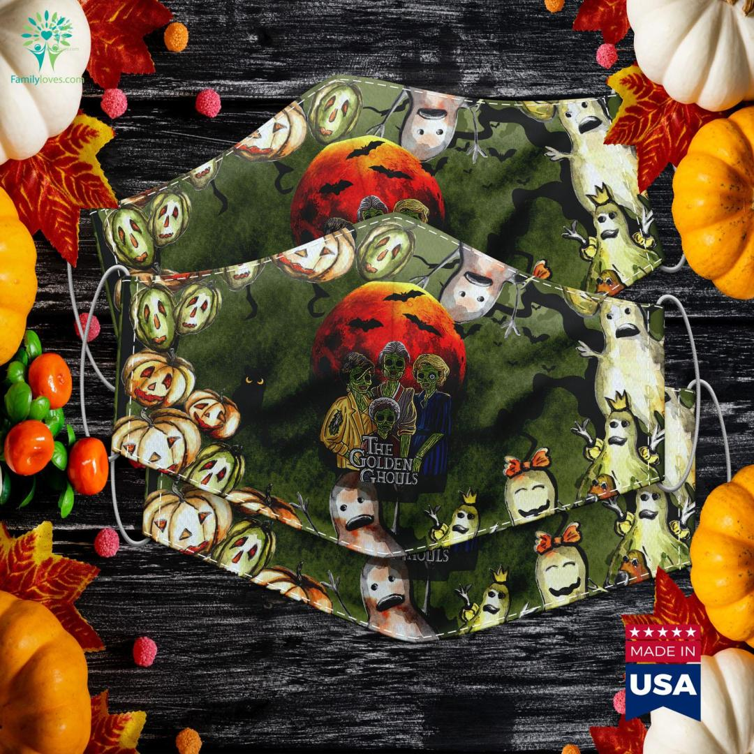 Vintage The Golden Ghouls Custom For Women Halloween 2019 Halloween Craft Ideas Cloth Face Mask Gift %tag familyloves.com