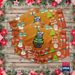 Walmart Christmas Tree Koala Christmas Tree Cloth Face Mask Gift %tag familyloves.com