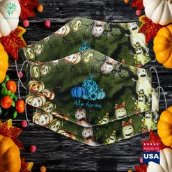 We Wear Blue For Autism Awareness Pumpkin Halloween Sexy Halloween Cloth Face Mask Gift %tag familyloves.com