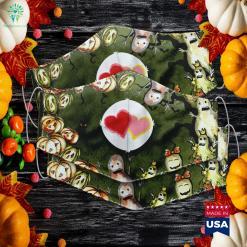 Womens Adult Bear Love A Lot Costume Halloween Edition Halloween Usa Cloth Face Mask Gift %tag familyloves.com
