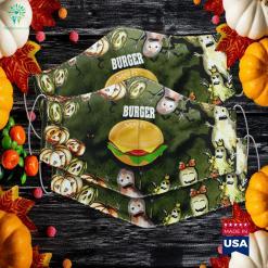 Womens Cheeseburger Halloween Costume Hamburger Halloween Off White Blazers Cloth Face Mask Gift %tag familyloves.com