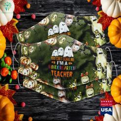 You Cant Scare Me Im A Kindergarten Teacher Halloween Halloween Near Cloth Face Mask Gift %tag familyloves.com