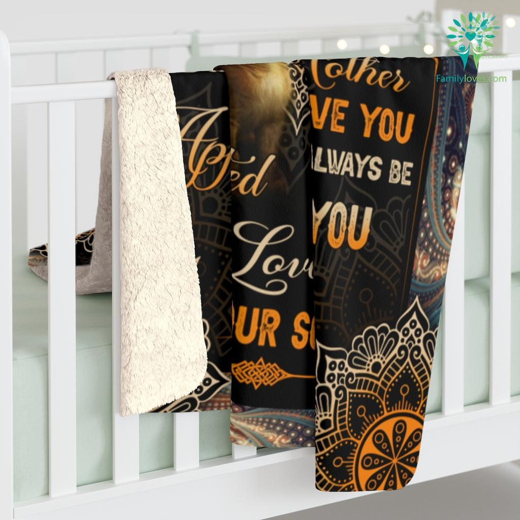 From Son To My Mom I Know It's Not Easy For A Woman To Raise A Child Sherpa Fleece Blanket Familyloves.com