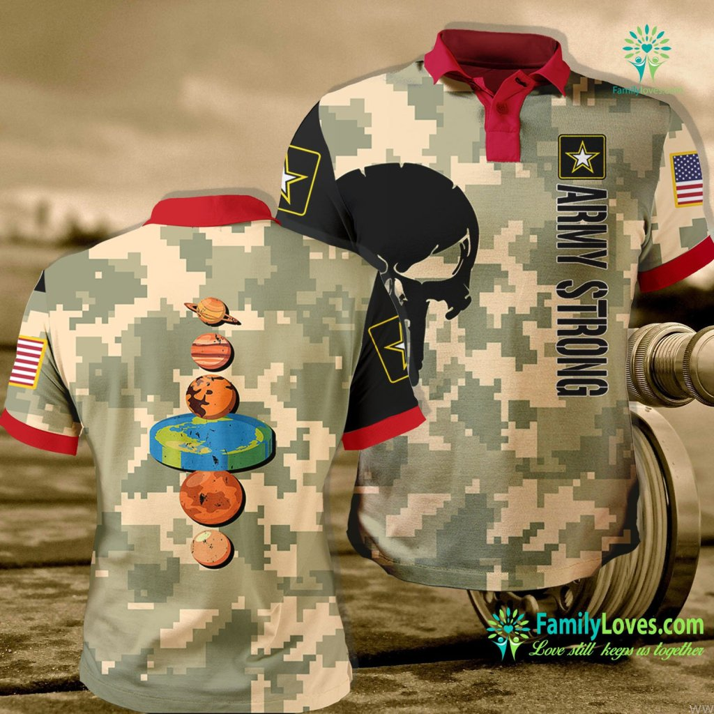 Navy Tee Shirt Flat Earth Army Army Polo Shirt All Over Print Familyloves.com