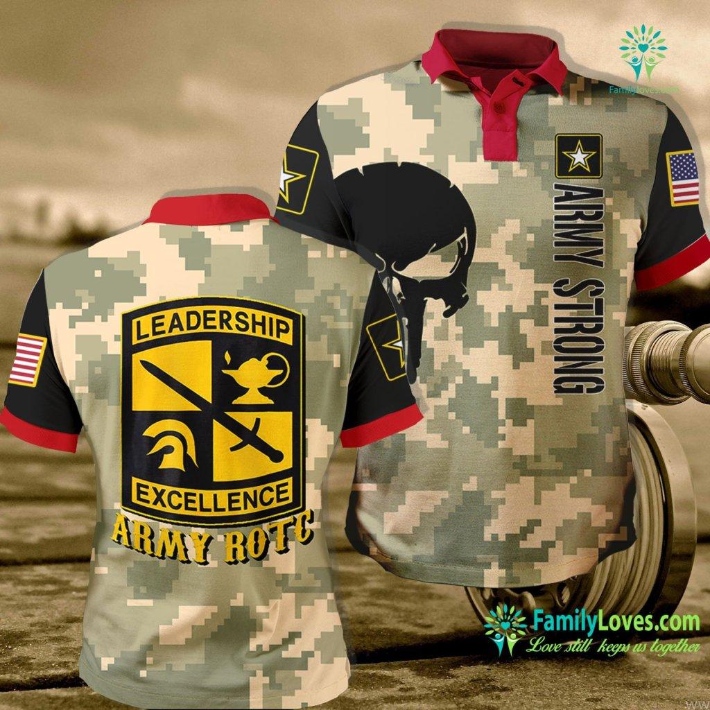 Us Army Ordnance Museum Us Army Rotc Army Polo Shirt All Over Print Familyloves.com