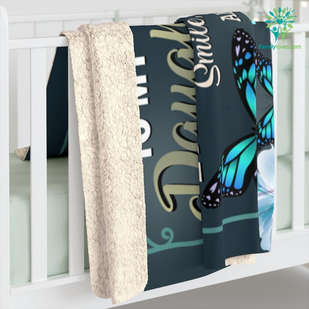 Gifts For Daughter Never Forget That The Most Important Love Mom Sherpa Fleece Blanket Familyloves.com