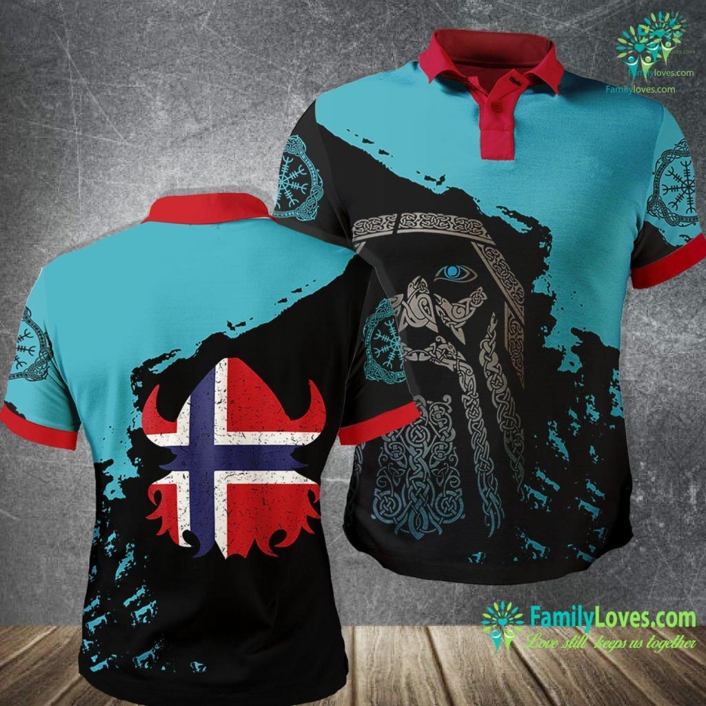 Icelandic Runes Cute Norwegian Viking Gif For Courageous Boys Amp Girls Viking Polo Shirt All Over Print Familyloves.com