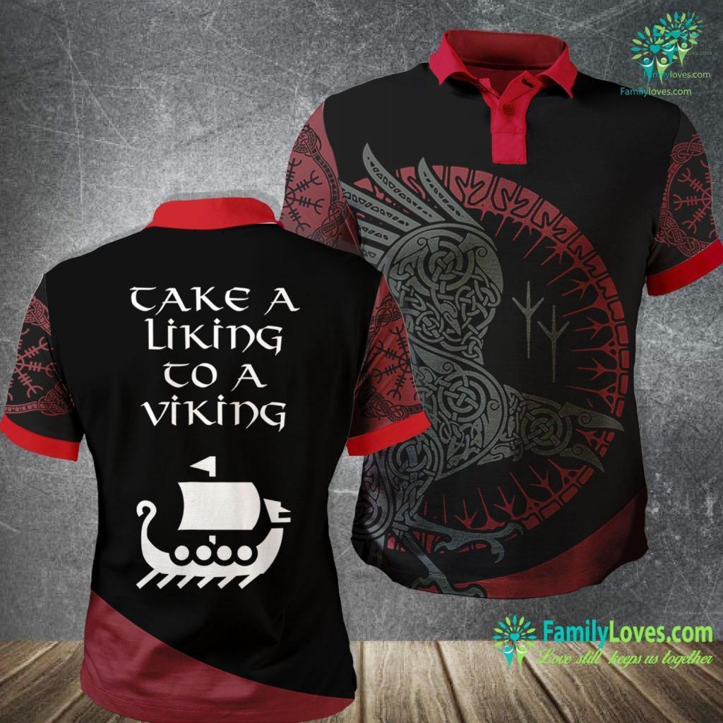 Norse Knotwork Take A Liking To A Viking Scandinavian Ship Funny Viking Polo Shirt All Over Print Familyloves.com