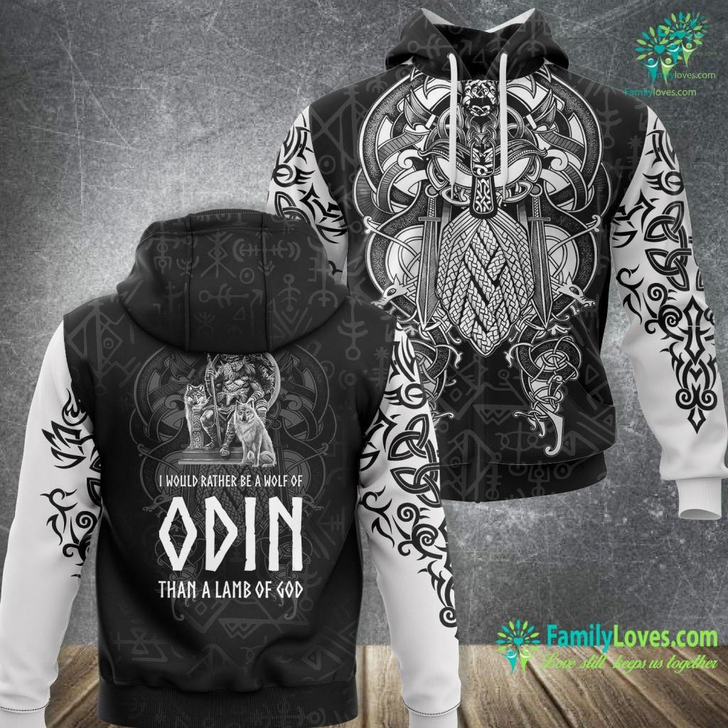 Raven Ring Odin Viking God Asatru Nordic Paganism Norse Mythology Viking Unisex Hoodie All Over Print Familyloves.com