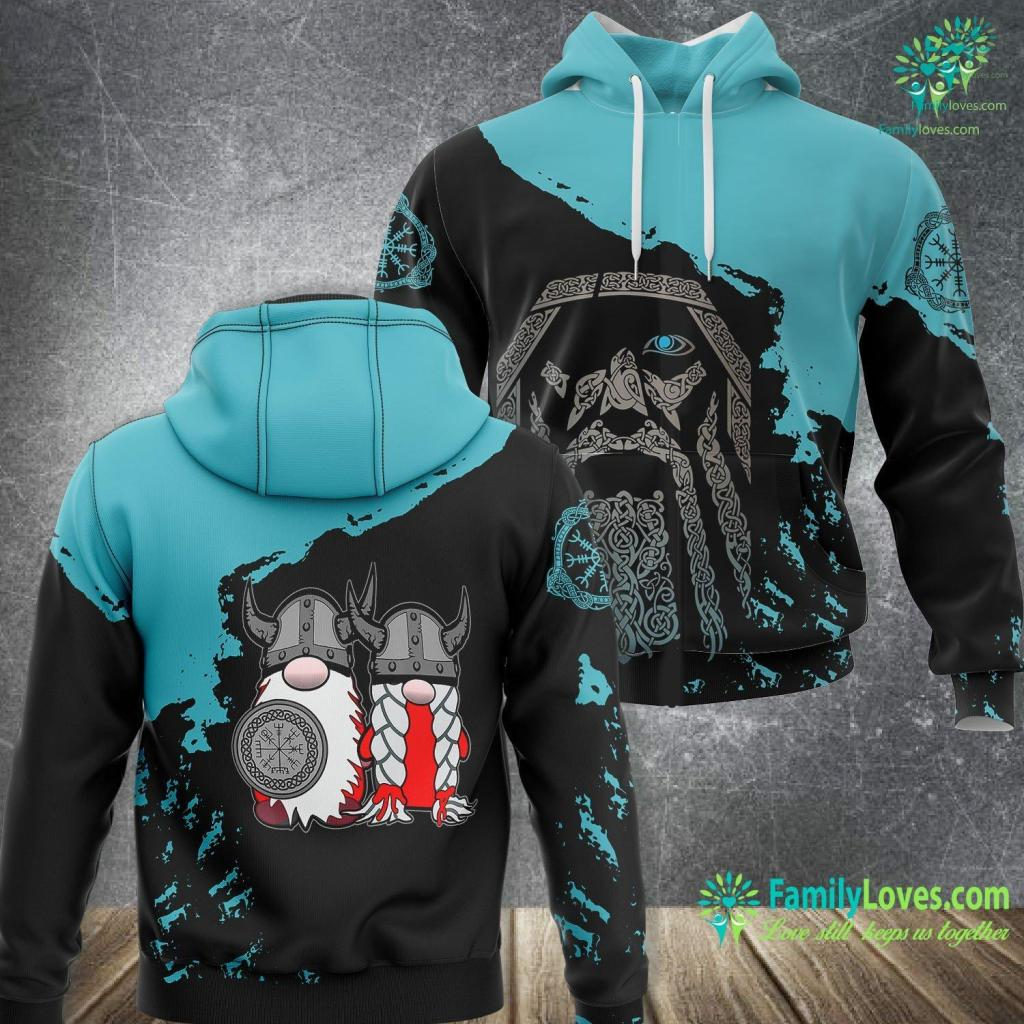 ThorS Hammer Pendant Cute Nordic Gnome Viking Tomte Couple Scandinavian Nisse Viking Unisex Hoodie All Over Print Familyloves.com