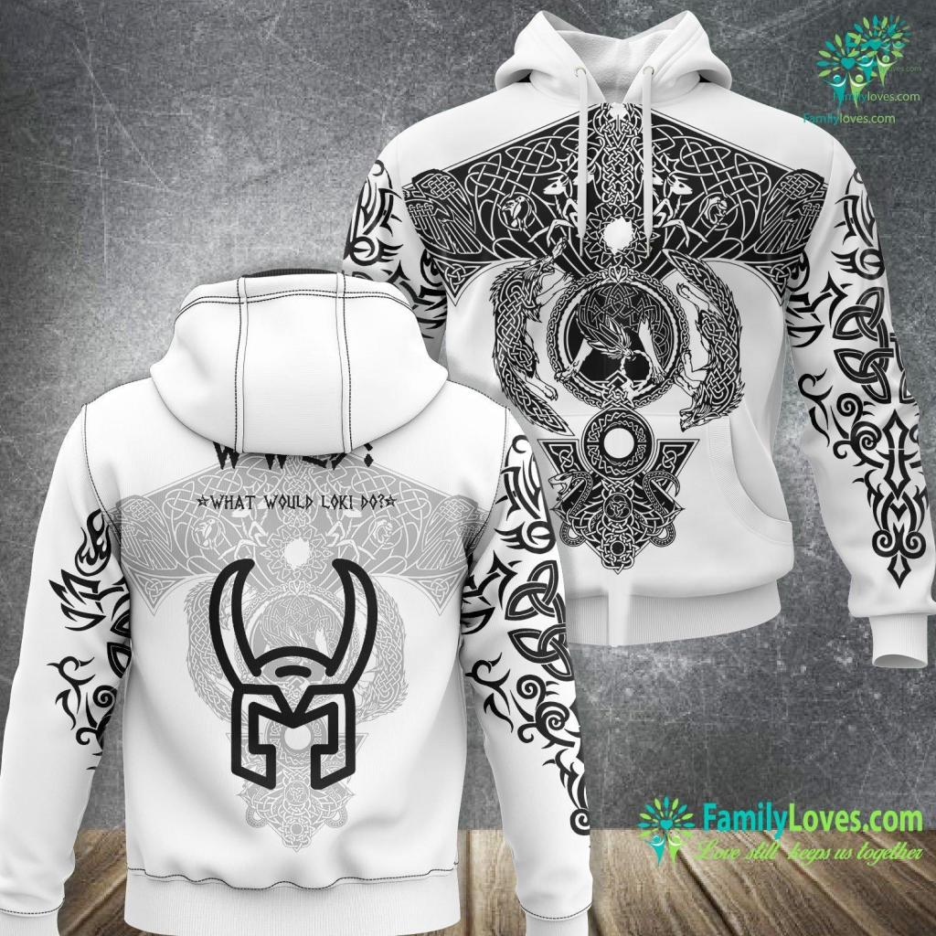 Viking Axe For Sale What Would Loki Do Funny Viking Pagan Athies Viking Unisex Hoodie All Over Print Familyloves.com