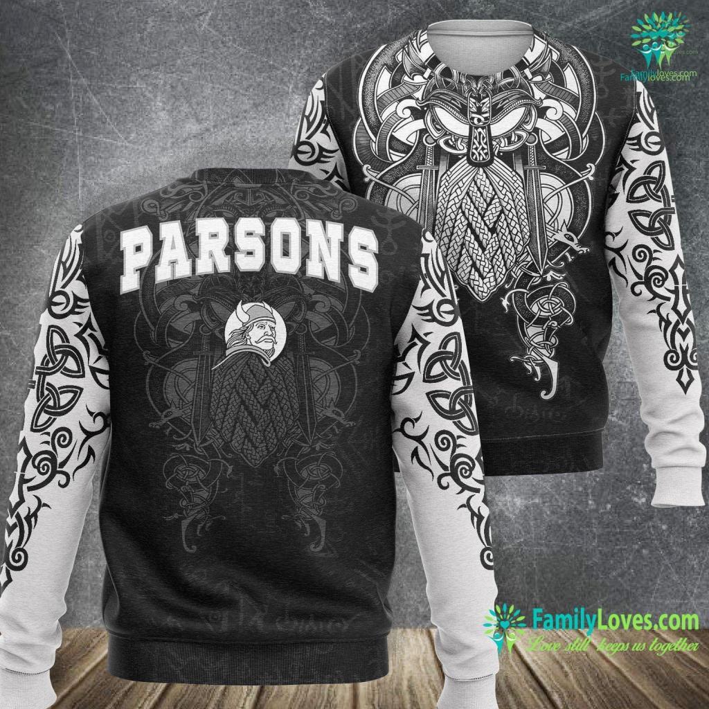 Viking Bank Parsons High School Vikings C2 Viking Sweatshirt All Over Print Familyloves.com