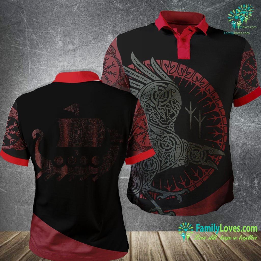 Viking Beard Viking Boat Valhalla Calling Design Norse Mythology Viking Polo Shirt All Over Print Familyloves.com