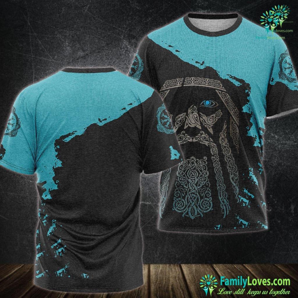 Viking Bearded Axe Astral Tree Of Life Celtic Tree Viking Yggdrasil Viking Unisex Tshirt All Over Print Familyloves.com