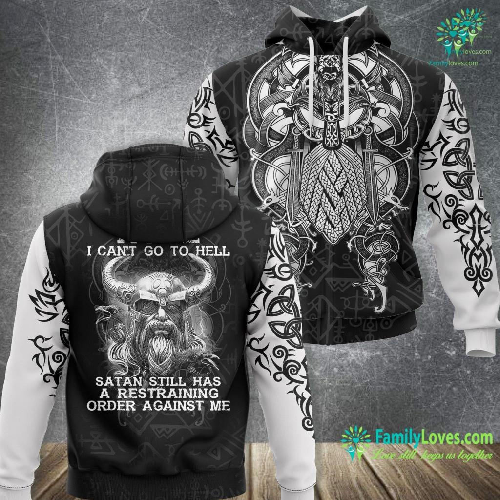 Viking Cycle Nope I Can T Go To Hell Stan Still Has A Restraining Viking Viking Unisex Hoodie All Over Print Familyloves.com
