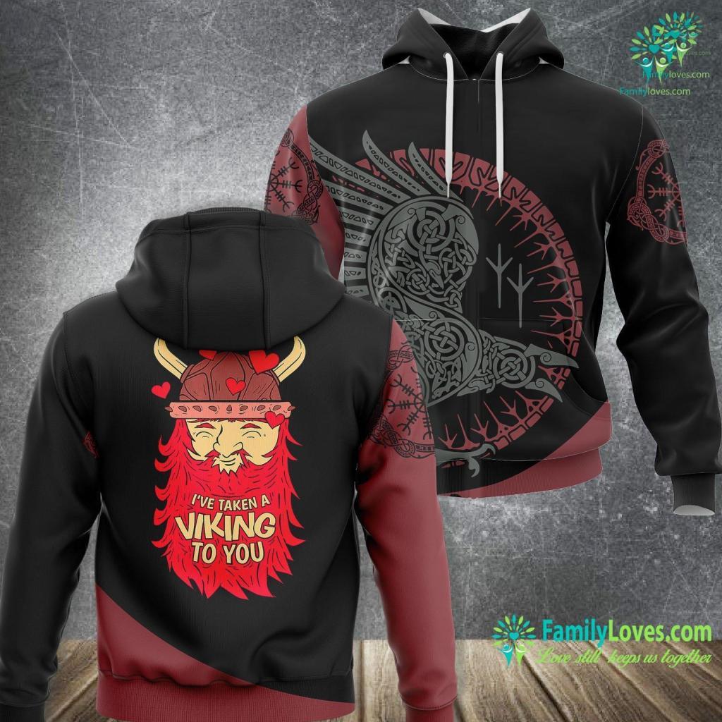 Viking Designs Viking Norse Valentine S Day For Men Women Gifts Viking Unisex Hoodie All Over Print Familyloves.com
