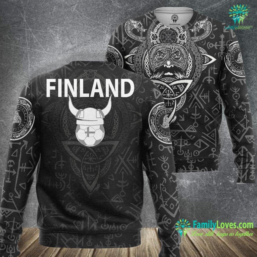 Viking Gods Finland Soccer Jersey Finnish Suomi Viking Football Viking Sweatshirt All Over Print Familyloves.com