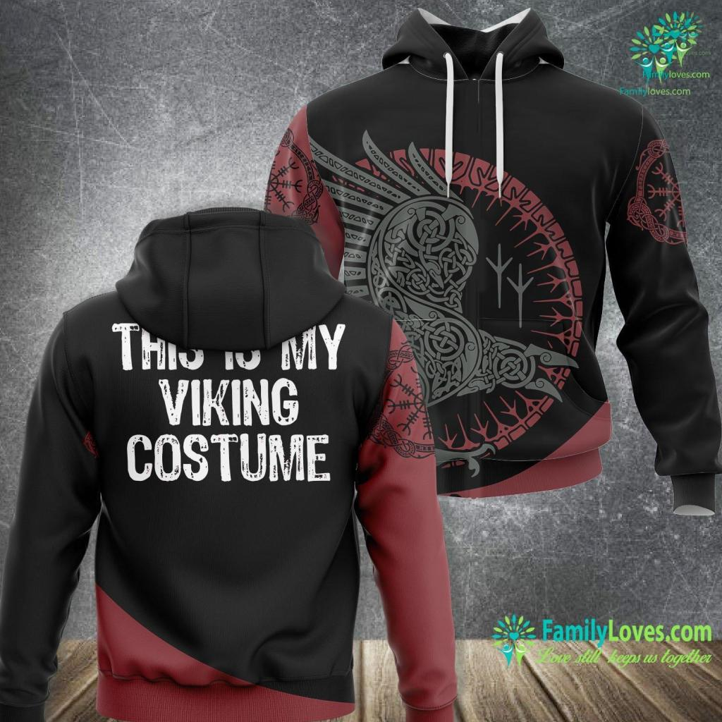 Viking Ragnar This Is My Viking Costume Halloween Nordic Norse Easy Lazy Viking Unisex Hoodie All Over Print Familyloves.com