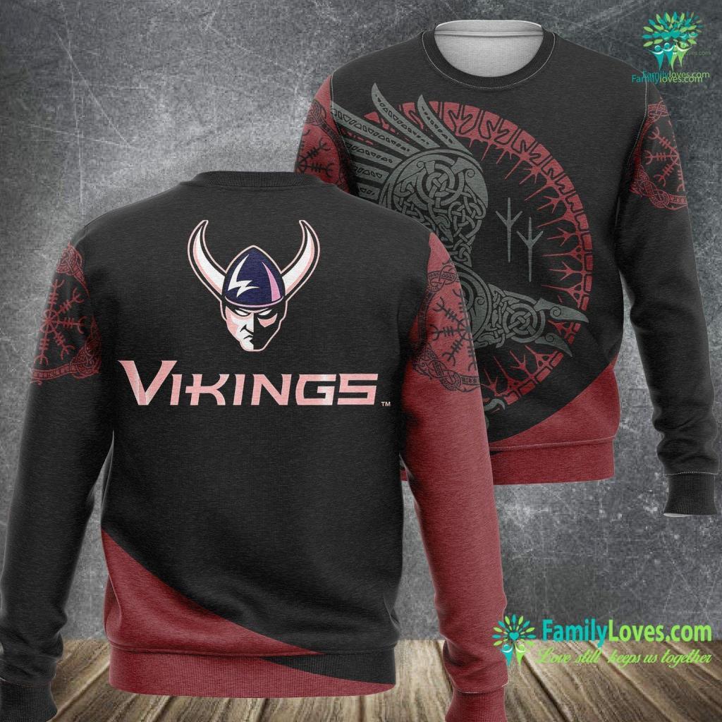 Viking Shop Western Washington Vikings Ncaa Ppwwu04 Viking Sweatshirt All Over Print Familyloves.com