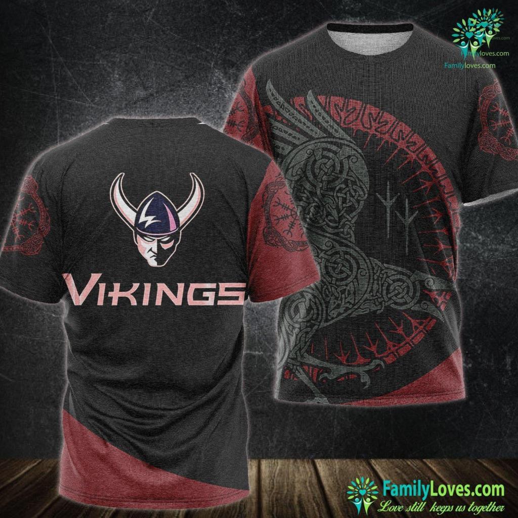Viking Shop Western Washington Vikings Ncaa Ppwwu04 Viking Unisex Tshirt All Over Print Familyloves.com