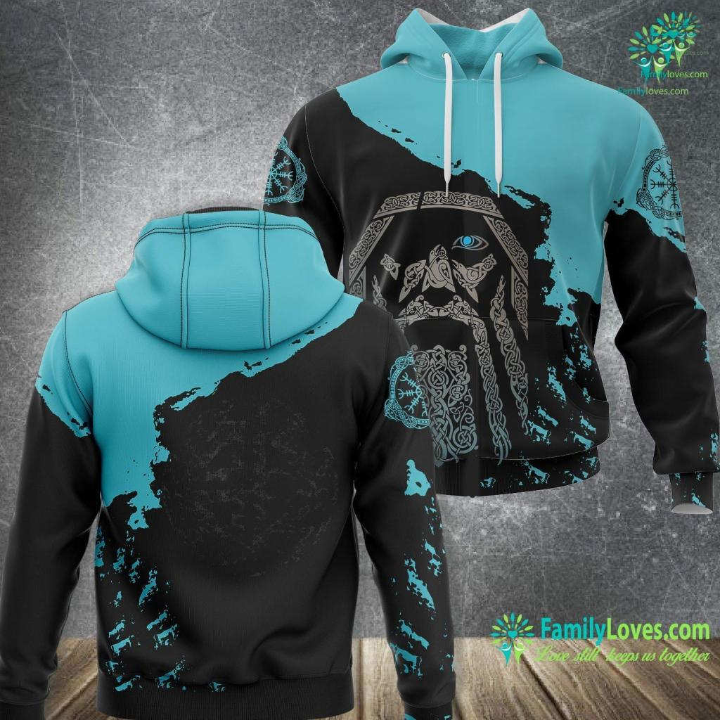 Viking Yachts For Sale Celtic Shield Knot Thor Protection Symbol Viking Vintage Viking Unisex Hoodie All Over Print Familyloves.com